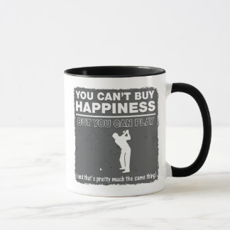 You Can't Buy Happiness Play Golf Mug