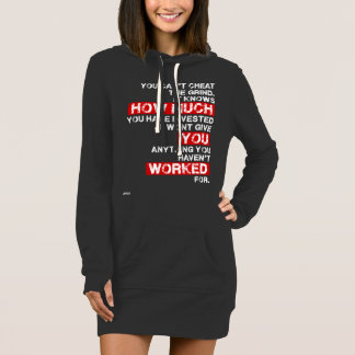You cant cheat the grind motivation long hoodie