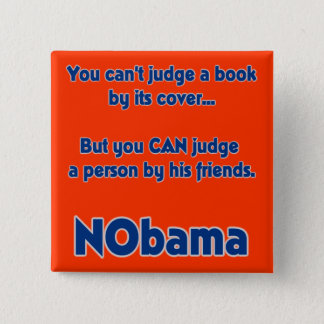 You can't judge a book by its cover... 15 cm square badge