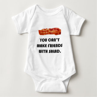 You Can't Make Friends With Salad Baby Bodysuit