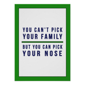 You Can't Pick Your Family Funny Poster