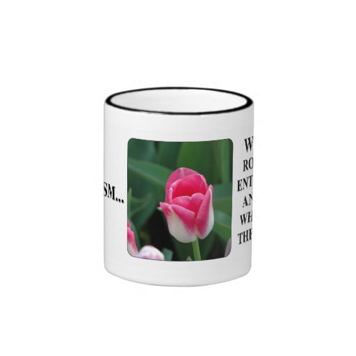 You can't see clearly thru rose color glasses mugs