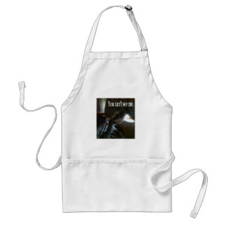 You can't see me adult apron