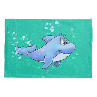 You cartoon dolphin  pillowcase