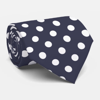 You choose background color and white polka dots tie