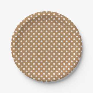 You Choose the Background Color & white polka dots 7 Inch Paper Plate