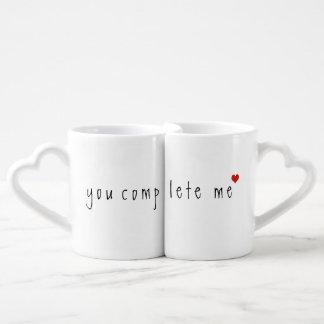 you complete me coffee mug set