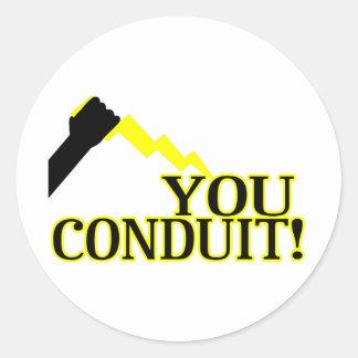 You Conduit Round Sticker