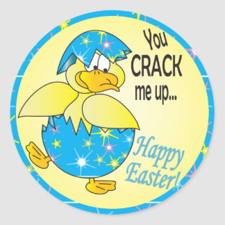 You Crack Me Up Easter Round Sticker