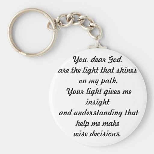 You dear God Keychain