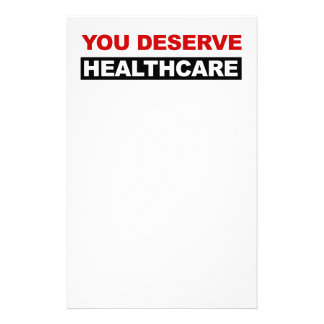 You Deserve Healthcare Customised Stationery