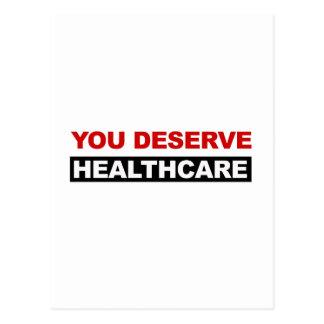 You Deserve Healthcare Postcard