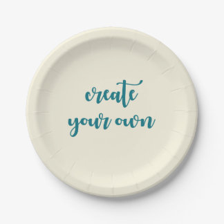 You Design It Template Create your Own 7 Inch Paper Plate