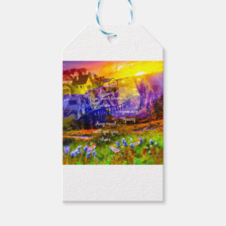 You don't know where the road lead us. gift tags