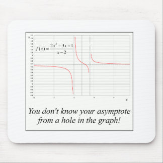 You don't know your asymptote... mouse pads