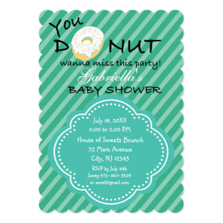 You DONUT Wanna Miss This Baby Shower Invitation