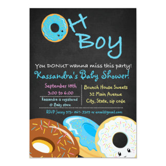 You DONUT Wanna Miss This Baby Shower Oh Boy Card