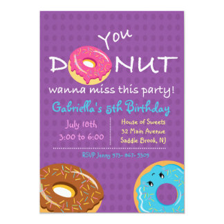 You DONUT Wanna Miss This Party Girls Invitation