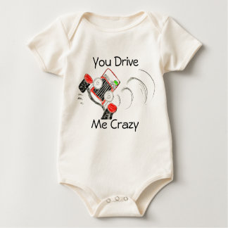 """You Drive Me Crazy""  Body for Babies Baby Bodysuit"