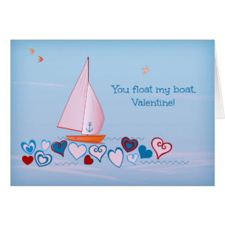 You float my boat, Valentine - Holiday Card