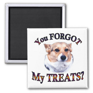 You FORGOT my treats Square Magnet