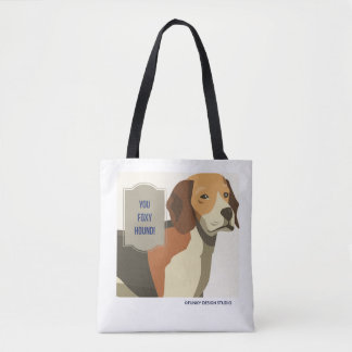 You Foxy Hound tote bag