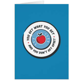 You Get What You Get Retro Teacher Wisdom Card