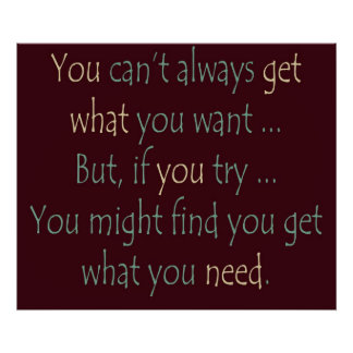 You get what you need Poster