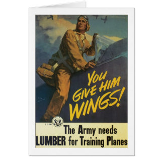 You Give Him Wings! Greeting Card