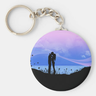 You give me butterflies basic round button key ring
