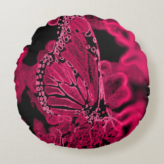 You give me butterflies pink round pillow-pnk round cushion