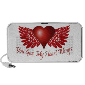 You give my heart wings travel speaker