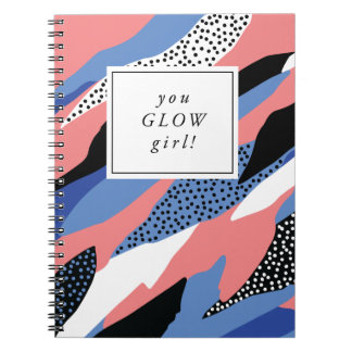 You Glow Girl Motivational Notebook