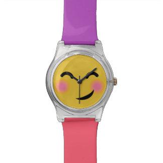 You got me blushing emoji wristwatch