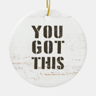 you got this ceramic ornament