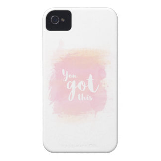 You got this pink calligraphy water color iPhone 4 cover