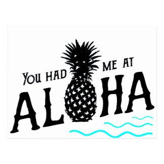 YOU HAD ME AT ALOHA POSTCARD