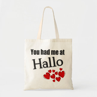 You had me at Hallo German Hello Canvas Bag