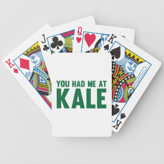 You Had Me At Kale Bicycle Playing Cards