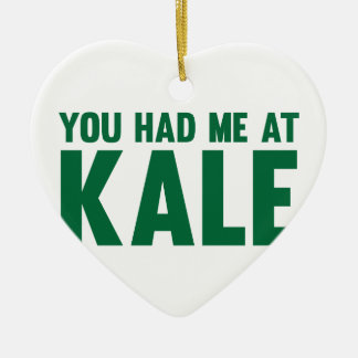 You Had Me At Kale Ceramic Heart Decoration