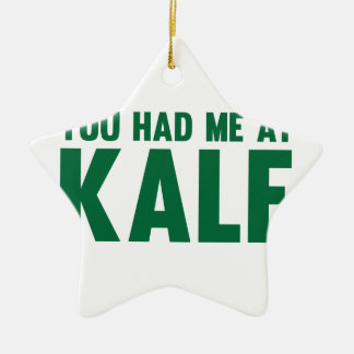 You Had Me At Kale Ceramic Star Decoration