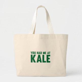 You Had Me At Kale Large Tote Bag
