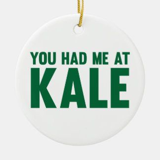 You Had Me At Kale Round Ceramic Decoration