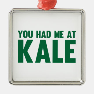 You Had Me At Kale Silver-Colored Square Decoration