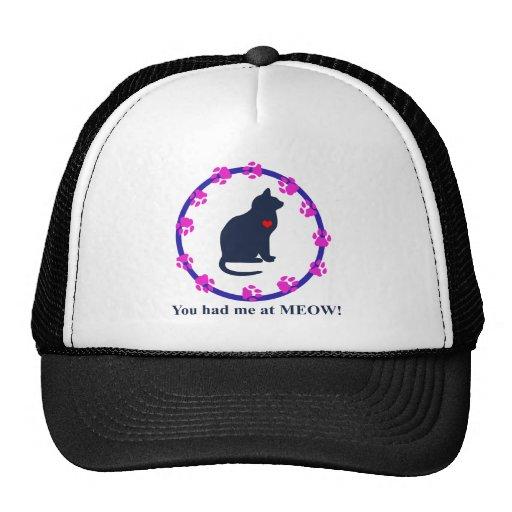 You Had Me at Meow! Mesh Hats