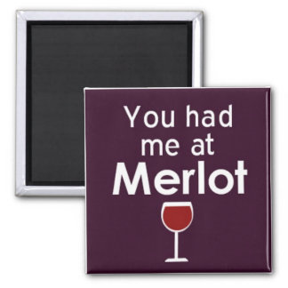 You had me at Merlot square magnet