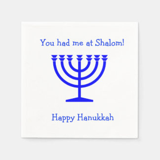 You had me at Shalom cocktail napkins Hanukkah Disposable Napkin