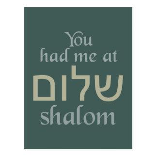 You Had Me at Shalom postcard