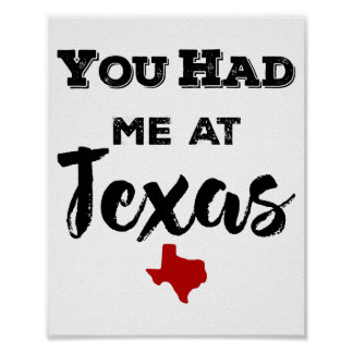You Had Me at Texas Poster