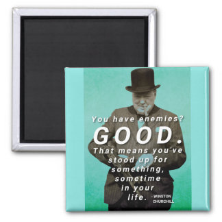 You have enemies? Winston Churchill Quote Magnet